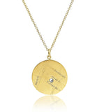 Louise's Large Round Location Necklace