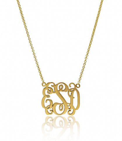 Claire's Cutout Monogram Necklace