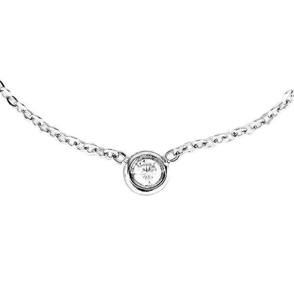 Natalia's 925 Sterling Silver Single Bezel Bracelet - 1/10 Carat Diamond - GNRTN