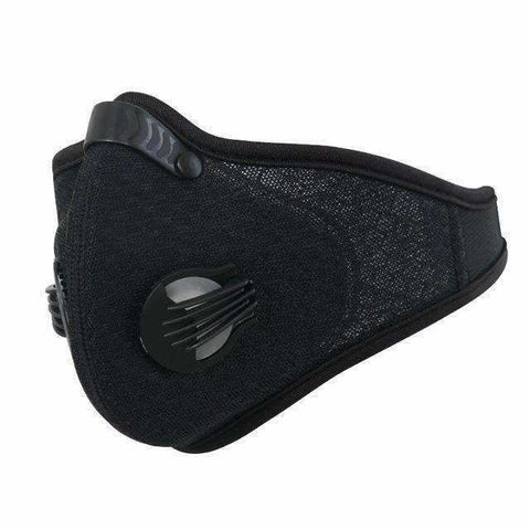 Activated Carbon Cycling Mask Yarn-Pure-Black