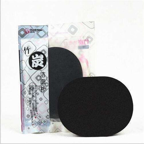 Natural Black Bamboo Sponge Cosmetic Puff
