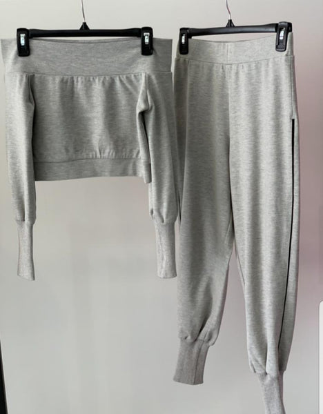 Off Shoulder Track Suit