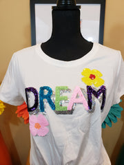 Curvy DREAM Sequin Tee