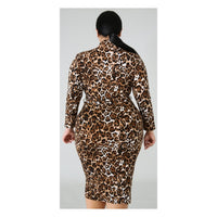 Leopard Print Body Con Dress