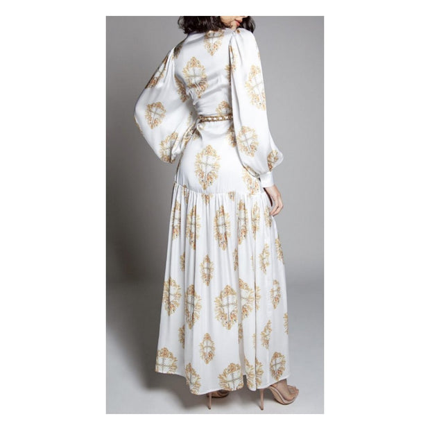 Gold Burst Maxi Dress
