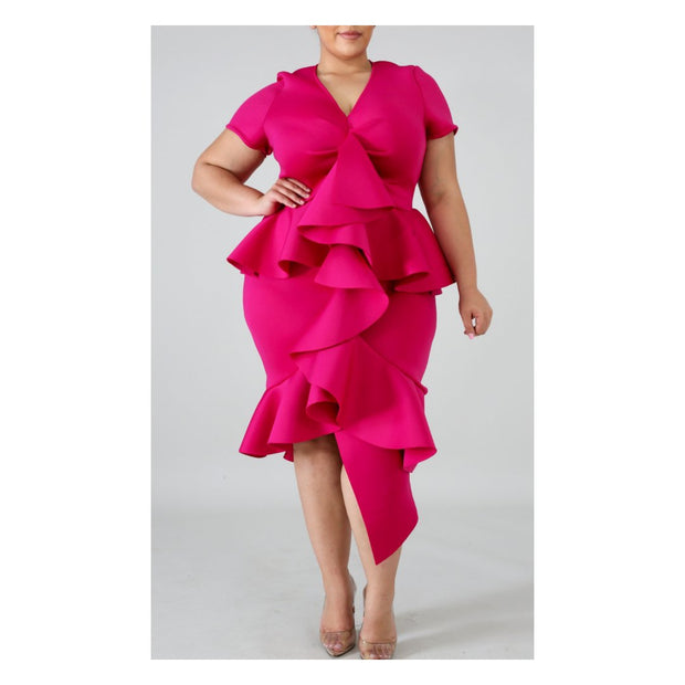 Ruffle Curvy Couture Dress