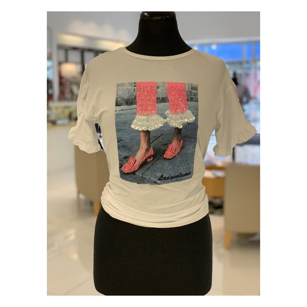 Sequin Shoe Tee