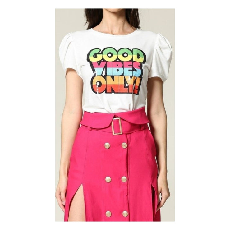 Good Vibes Sequin Tee