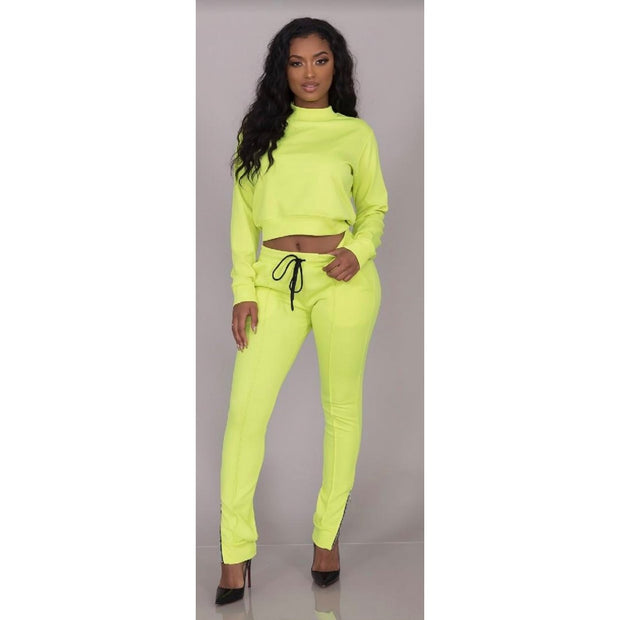 NEON Yellow Light Weight Track Suit