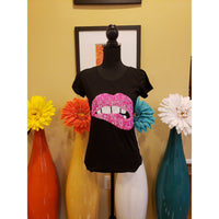 Fushia Lip Sequin Tee
