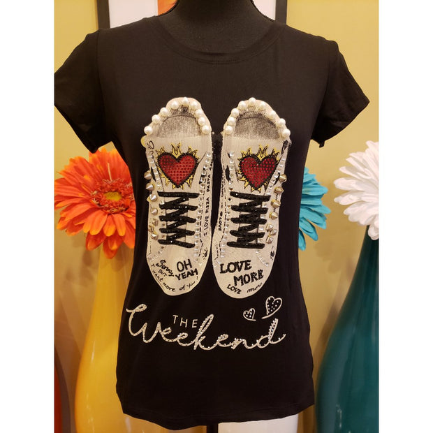 Weekend Studded Sneaker Tee