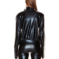 Leather Look Track Suit
