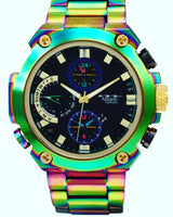 Large Face Iridescent Fashion Watch