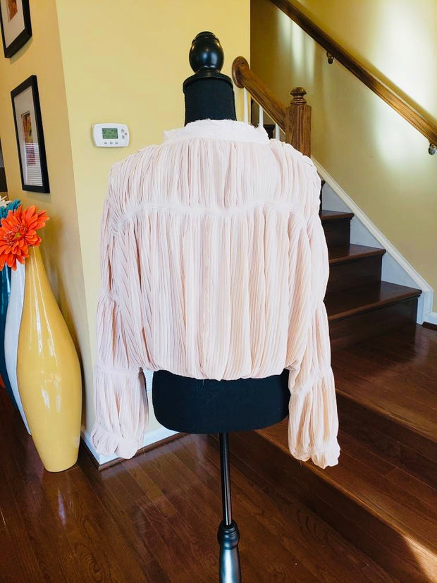 Pretty In Peach Organza Fully Lined Blouse