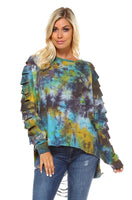 Distressed Tie Dyed Sweat Shirt