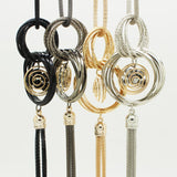Fashion Gold Silver Plated Double Circles