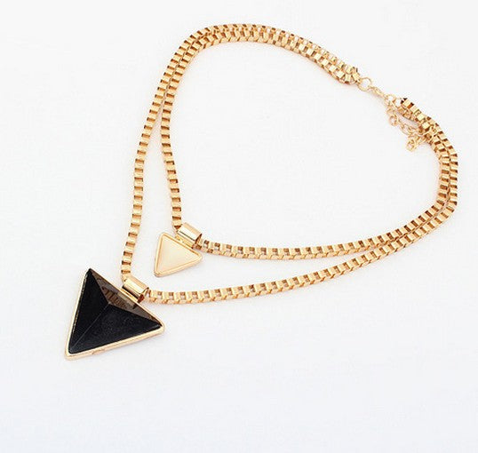 Collier Femmes Or Triangle Foulard