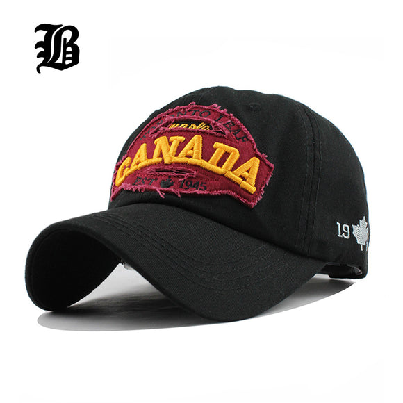 canada letter Cotton embroidery Baseball Caps