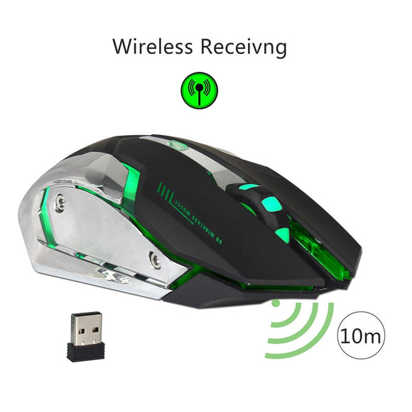 2.4G Rechargeable Wireless Mouse Optical Mouse 6 Buttons 2400DPI