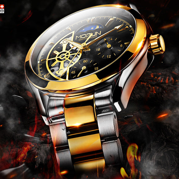 Mechanical Army Watches Men Luxury Stainless Steel