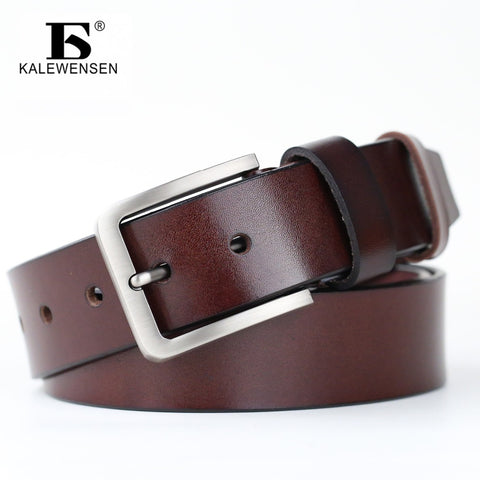 Men High quality genuine leather belt 4cm male