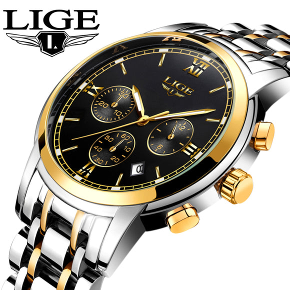New LIGE Watches Men Luxury Brand Fashion Men's Sports