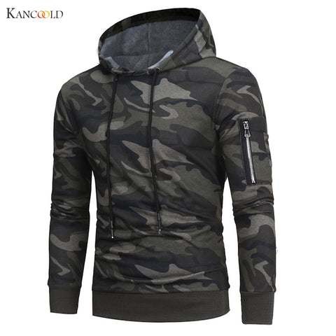 Camouflage Hoodies Men Sweatshirt Male Zipper Hooded Jacket
