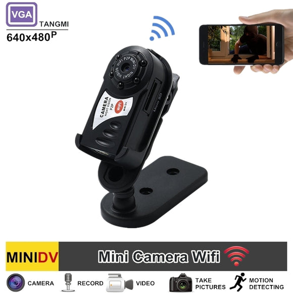 TANGMI New Spycam Q7 DV DVR Mini Wifi Camera Wireless IP Mini Camcorder Night Vision Motion Detect Best Nanny Cam