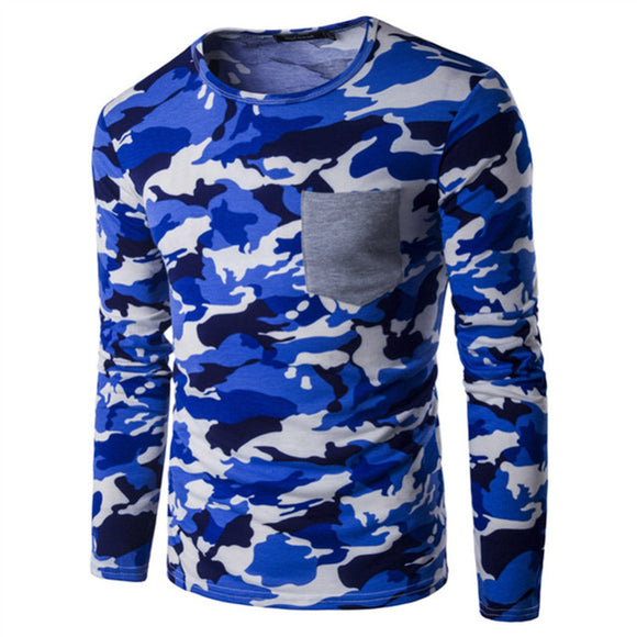 Camouflage Hip Hop long sleeves t shirts Urban