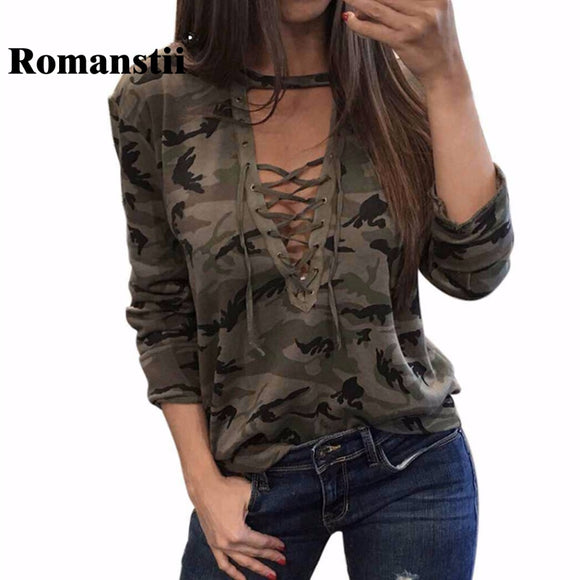 Women 2017 Spring Autumn Sexy Deep V-Neck Front