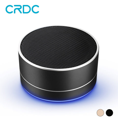 CRDC Wireless Bluetooth Speaker Portable Mini Metal Bass Sound