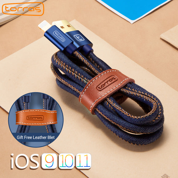 TORRAS USB Cable For iPhone X 8 7 6 5 Cowboy
