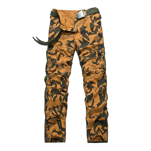 Men Cargo Pants Camouflage Multi-Pockets