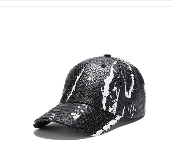 -20% sur les LiuWeiShun 2018 Spring New Snakeskin Pattern Leather Baseball