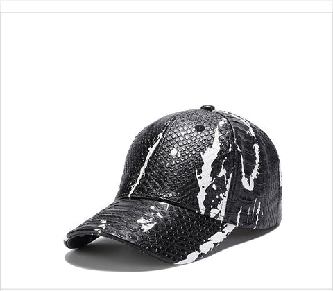 LiuWeiShun 2018 Spring New Snakeskin Pattern Leather Baseball