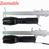 2018 HOT 5pcs/lot High Power CREE XML-T6 5 Modes 3800 Lumens LED Flashlight Waterproof Zoomable rechargeable Torch lights z15