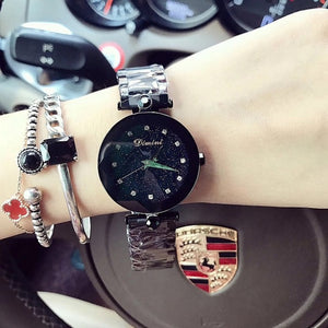 2018 Watch Women's Brand Lady Crystal Watch Women Starry sky