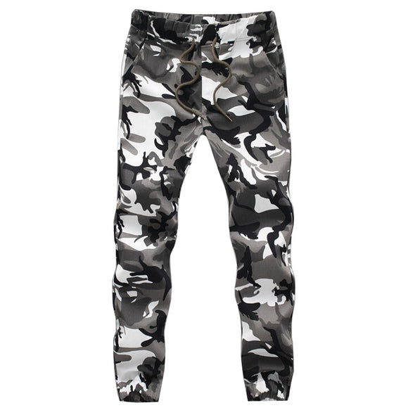Men Crotch Big Camouflage Pants Trousers