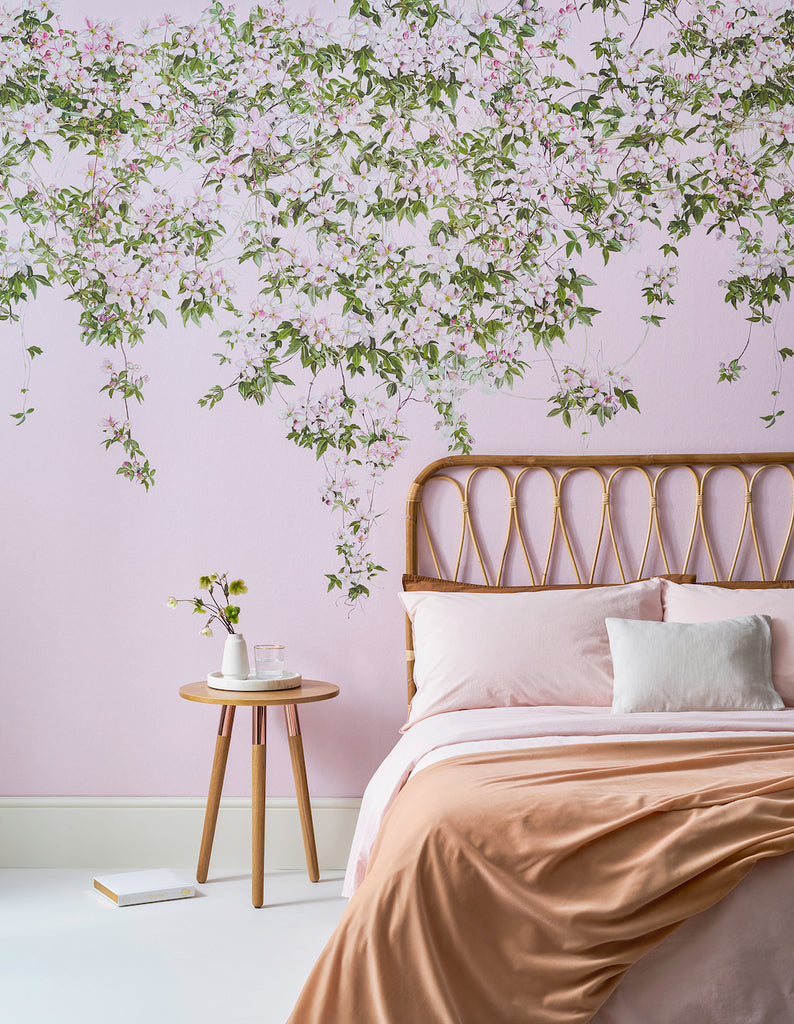 Bed Frame Ideas For Wallpapered Walls