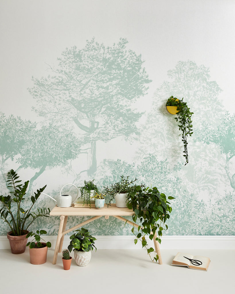 New Wallpaper Colours: Hua Trees in Dusty Green & Blue