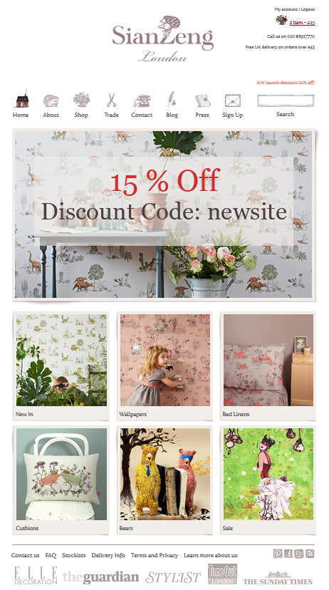 New Website Launch 15% off