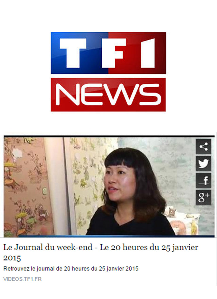 Sian Zeng talking on TF1 news about winning the Decouvertes Prize