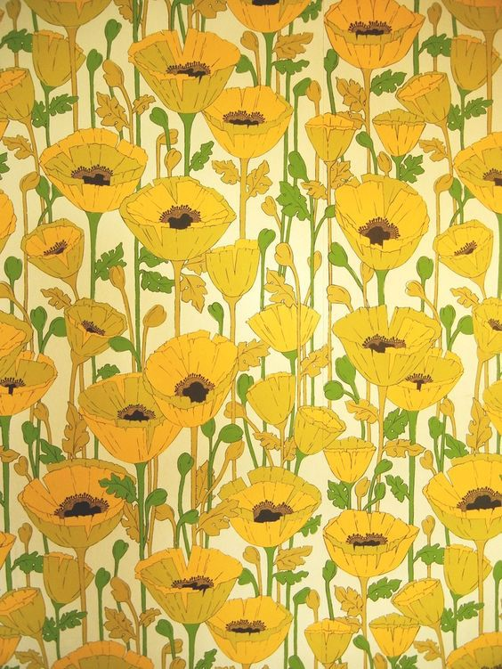 1960's floral wallpaper from Pinterest