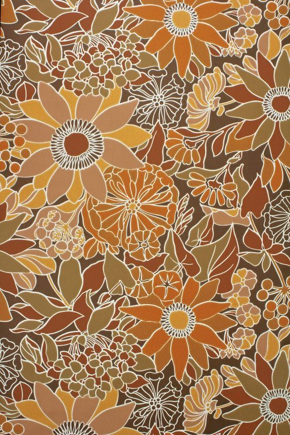 70's floral wallpaper from Pinterest