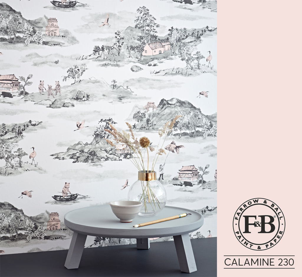Mountains Grey Pink Farrow and ball Calamine 230