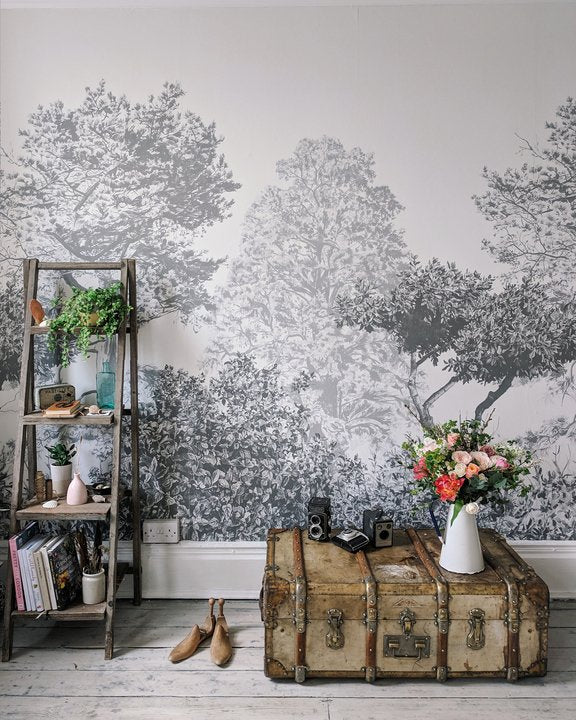 Sian Zeng Hua Trees in Grey Mural by @hannahargyle