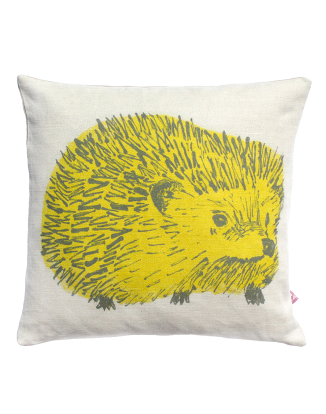 Hedgehog green cushion