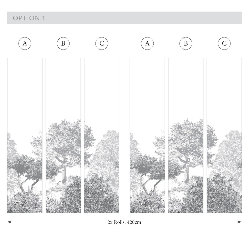 Hua Trees Wallpaper Mural Panels