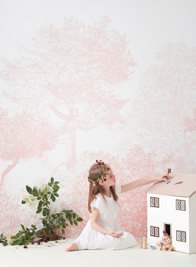 Sian Zeng Magnetic Hua Trees Mural in Pink