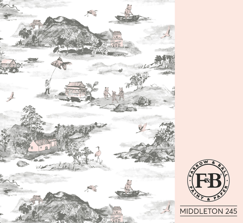 Mountains grey pink Farrow and Ball Middleton 245